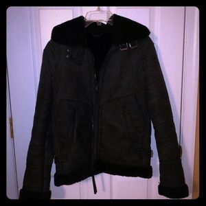 Double faced jacket Zara men Black.